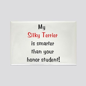 My Silky Terrier is smarter... Rectangle Magnet