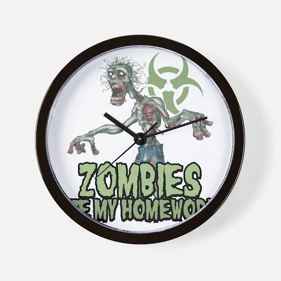 Zombies-Ate-Homework Wall Clock