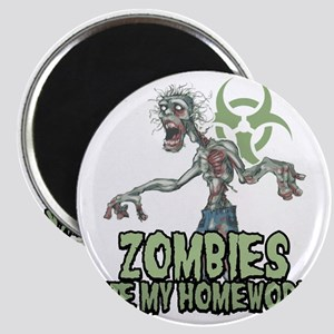 Zombies-Ate-Homework Magnet