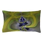 Green Goblin Abstract Fractal Pillow Case