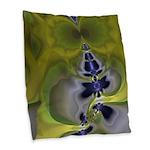 Green Goblin Abstract Fractal Burlap Throw Pillow