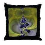 Green Goblin Abstract Fractal Throw Pillow