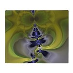 Green Goblin Abstract Fractal Throw Blanket