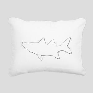 SIMPLY SNOOK 11X11 4 BLA Rectangular Canvas Pillow