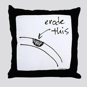 Erode This Throw Pillow