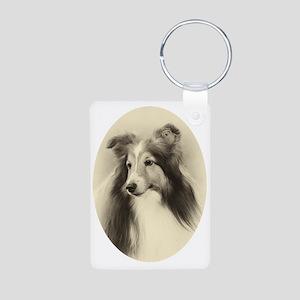 VSheltie#2Plain Aluminum Photo Keychain
