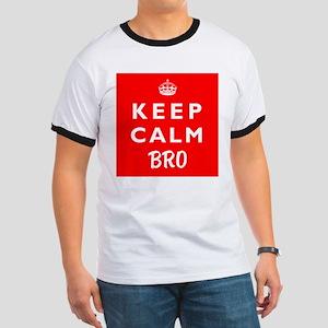 KEEP CALM BRO wr Ringer T