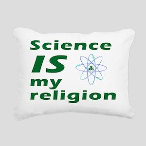 science-religionbutton Rectangular Canvas Pillow