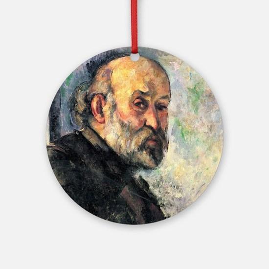 Self Portrait - Paul Cezanne - c1895 Round Ornamen