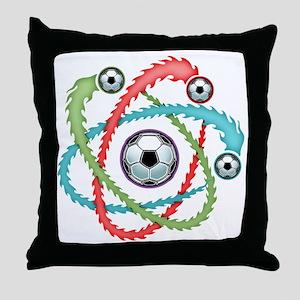 atomic-soccer-T Throw Pillow