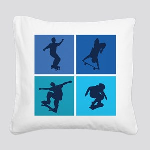 skateboarding3 Square Canvas Pillow