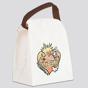 Javelina heart Canvas Lunch Bag