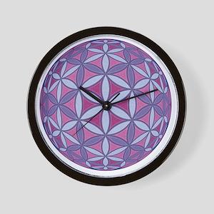 FlowerOfLife_Uni_Lrg Wall Clock
