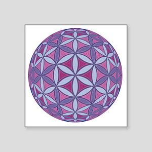 "FlowerOfLife_Uni_Lrg Square Sticker 3"" x 3"""