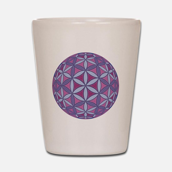 FlowerOfLife_Uni_Lrg Shot Glass