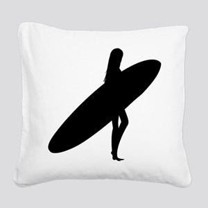 surfing29 Square Canvas Pillow