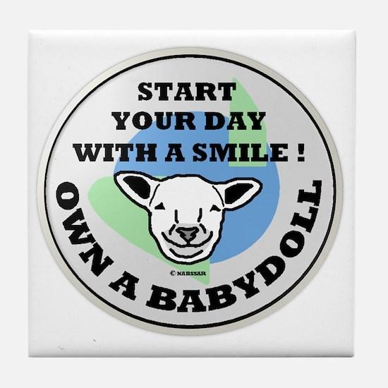 smilingbabydolllogoframe Tile Coaster