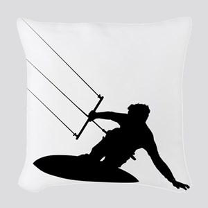 surfing35 Woven Throw Pillow