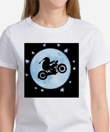santa-moon-bike-BUT Women's T-Shirt
