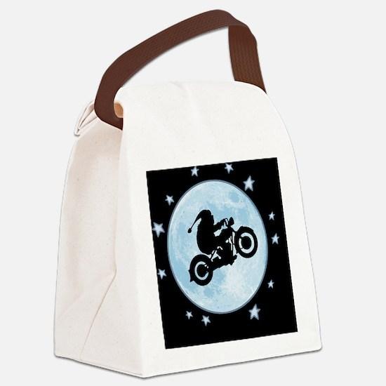 santa-moon-bike-BUT Canvas Lunch Bag