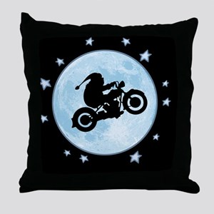 santa-moon-bike-CRD Throw Pillow