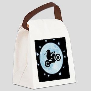 santa-moon-bike-CRD Canvas Lunch Bag