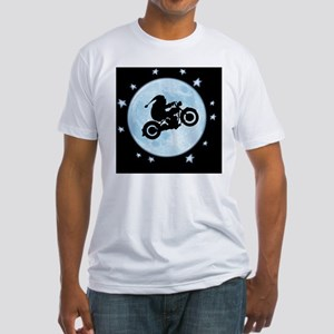 santa-moon-bike-CRD Fitted T-Shirt