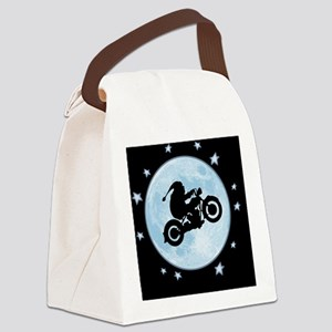 santa-moon-bike-OV Canvas Lunch Bag