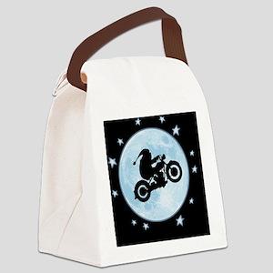 santa-moon-bike-OV Canvas Lunch Bag