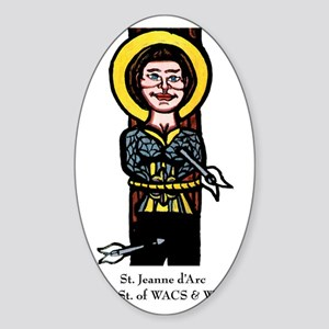 Jeanne dArc Sticker (Oval)