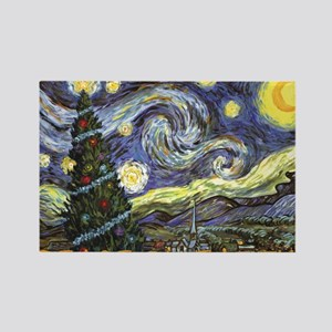 Starry Night/ Peace on Earth Rectangle Magnet