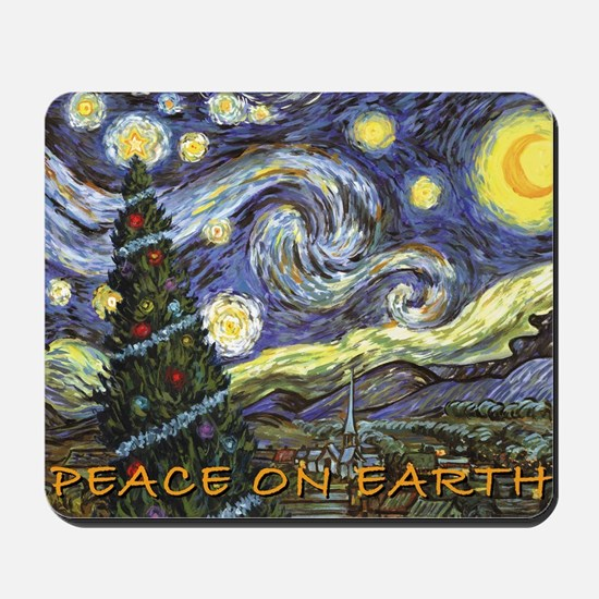 Starry Night/ Peace on Earth Mousepad