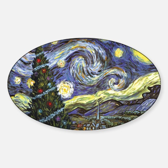 Starry Night/ Peace on Earth Sticker (Oval)