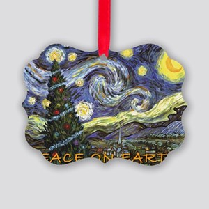 Starry Night/ Peace on Earth Picture Ornament