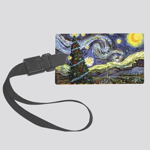 Starry Night/ Peace on Earth Large Luggage Tag