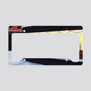 Christmas Diner License Plate Holder