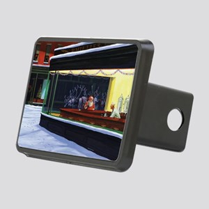 Christmas Diner Rectangular Hitch Cover