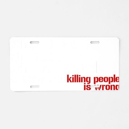 killpeople Aluminum License Plate