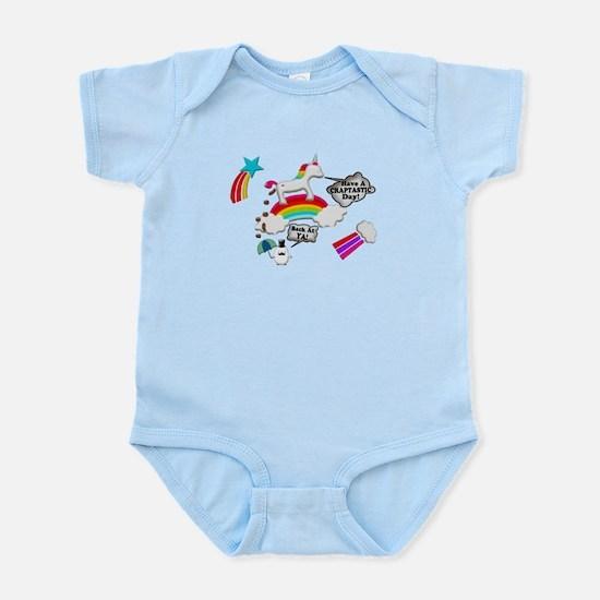 Unicorn And Penguin Craptastic Day Infant Bodysuit
