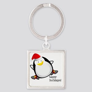 Tappy Holidays Dancing Penguin by  Square Keychain