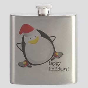Tappy Holidays Dancing Penguin by Danceshirt Flask