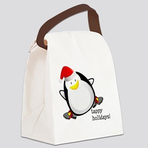 Tappy Holidays Dancing Penguin by Canvas Lunch Bag