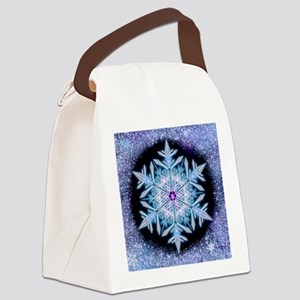 November Snowflake - square Canvas Lunch Bag