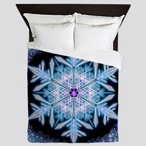 November Snowflake - square Queen Duvet