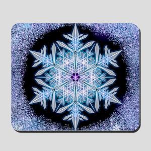 November Snowflake - square Mousepad
