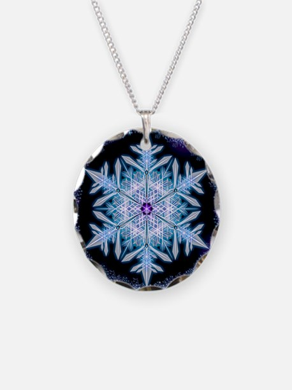 November Snowflake - square Necklace