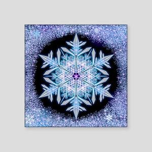 "November Snowflake - square Square Sticker 3"" x 3"""