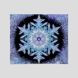 November Snowflake - square Throw Blanket