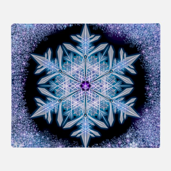 November Snowflake - square Throw Blanket