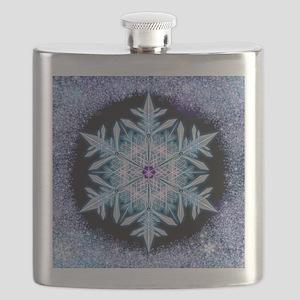 November Snowflake - square Flask